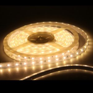 LED light strips for use in functional artwork illuminated sculptures