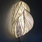 papier mache lamp illuminated sculpture wall hanging angelina fiber paper reed LED